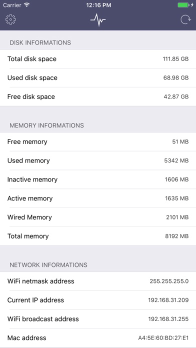 SYS Pro - A Network Monitor Screenshot