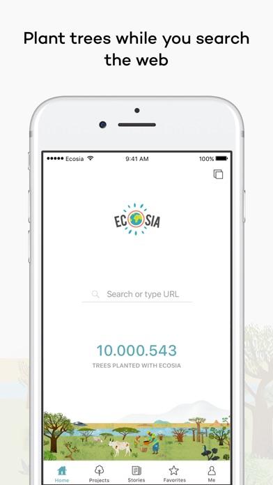Screenshot 0 for Ecosia's iPhone app'