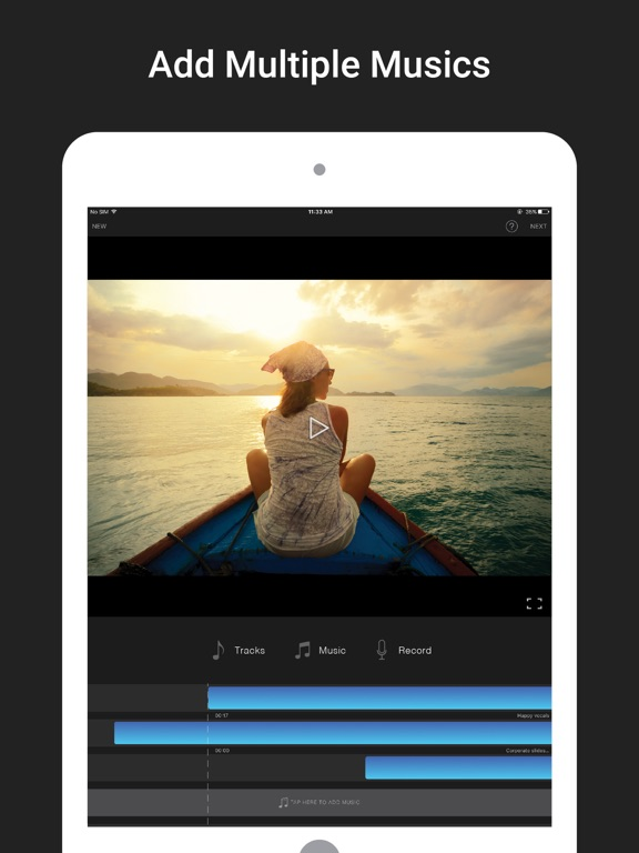 Screenshots of Add Music To Videos - Video Editor & Movie Maker App for iPad