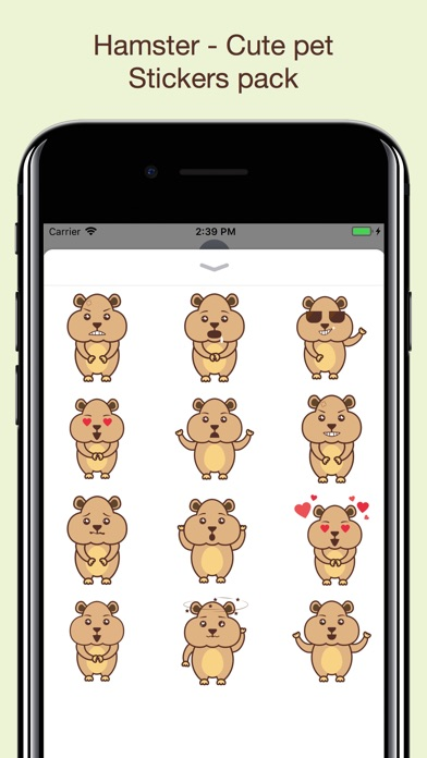download Hamster - Cute pet stickers apps 4