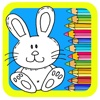 Animal Book Bunny Coloring Rabbit Pages