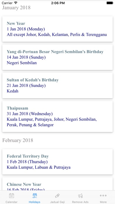 download Malaysia Calendar 2018 Holiday apps 3