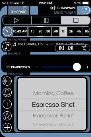 BrainWave Binaural Mind Tuner screenshot 1