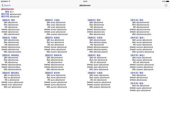 フランス語動詞活用表