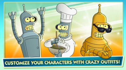 Screenshots of Futurama: Worlds of Tomorrow for iPhone