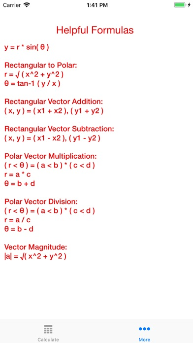 Complex Vector Calc screenshot 4