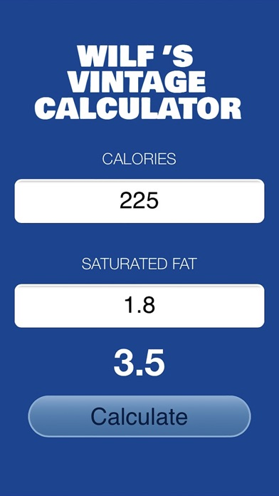 Vintage Weight Watchers Calculator on iOS AppStore image
