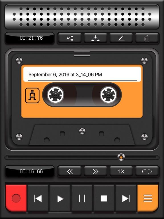 Voice Recorder PRO, Recording Screenshots