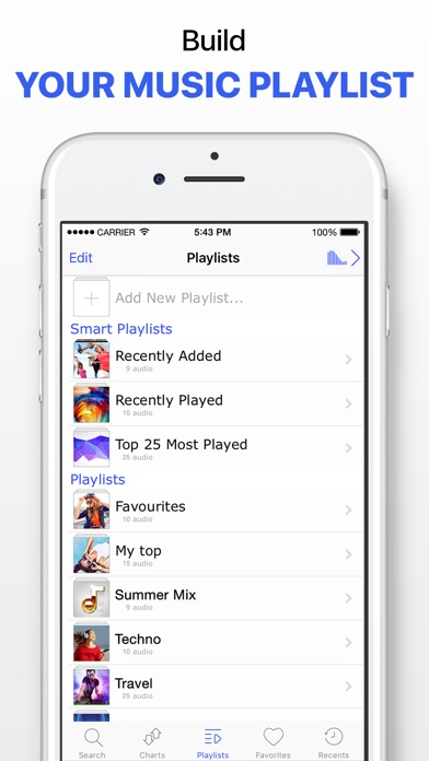 Screenshot for Music Player & Unlimited Songs in Thailand App Store