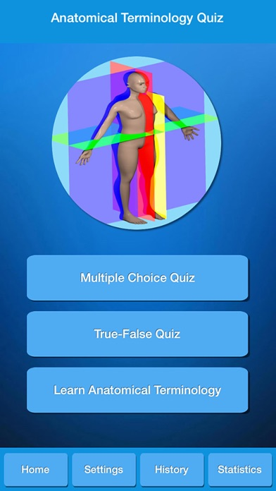 Anatomical Terminology Quiz Screenshot