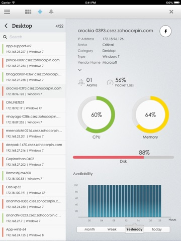 OpManager for iPad screenshot 3