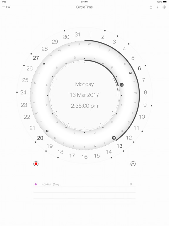 Calendar round - CircleTime Screenshots