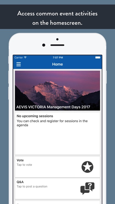 AEVIS VICTORIA Events screenshot 2
