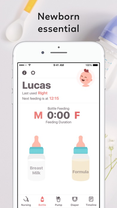Screenshot #1 pour Newborn Baby Tracker: Breastfeeding & Diaper Log