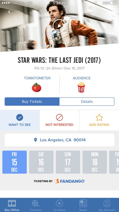 Screenshot 2 for Rotten Tomatoes's iPhone app'