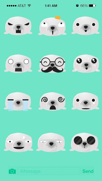 Seal Animated Stickers Pack review screenshots