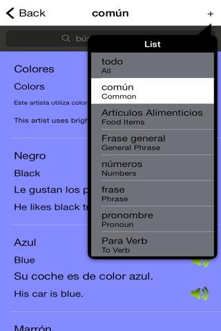 Spanish English Trainer screenshot 3