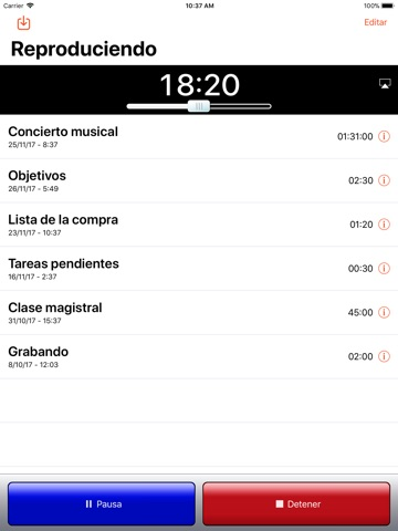 iRecorder Pro Audio Recorder screenshot 3