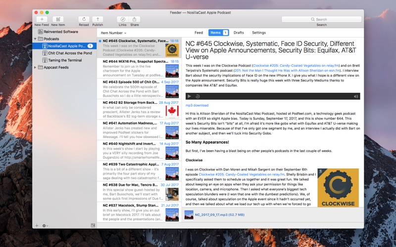 Feeder 3 5 4 – Create, edit, and publish RSS feeds  | macOS