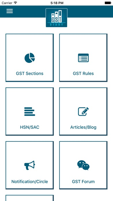 Gst diary app report on mobile action for Interior decoration hsn code gst
