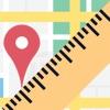 Mappa Righello di distanza