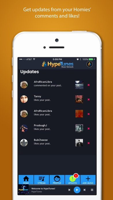 HypeTunes screenshot