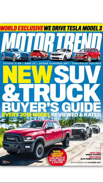 Motor Trend Magazine review screenshots