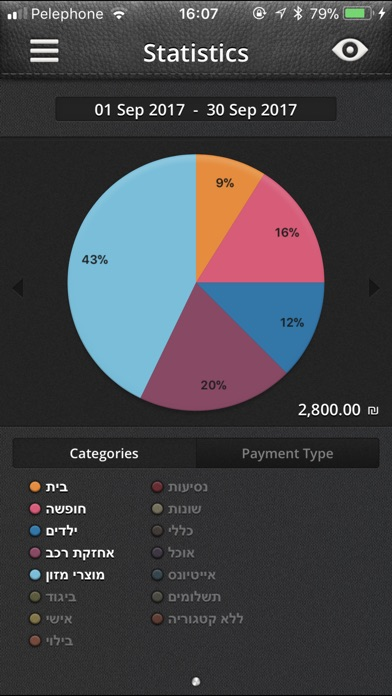BudgetBook - ניהול תקציב, הוצאות והכנסות Screenshot 4