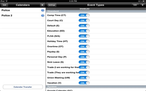 Police Schedule screenshot 3