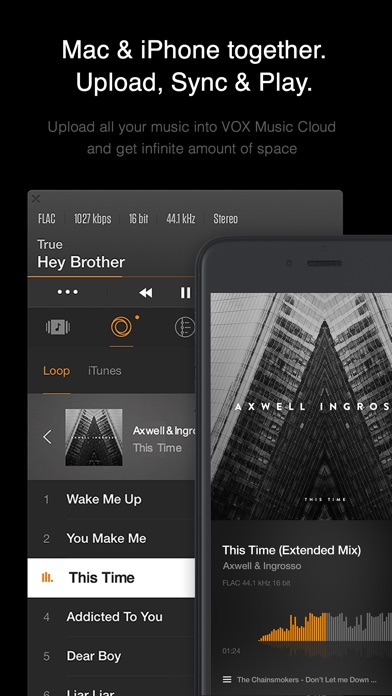 VOX: MP3 & FLAC Music Player Screenshots