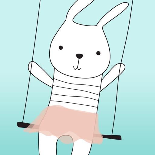 Piccolo coniglio divertente Stickers!
