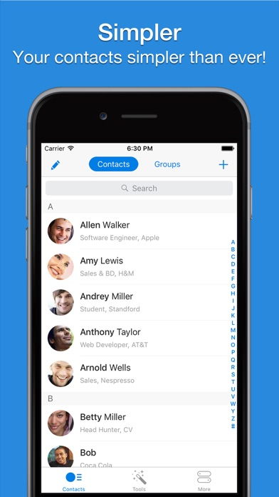 Screenshot #6 for Simpler - Contacts Manager