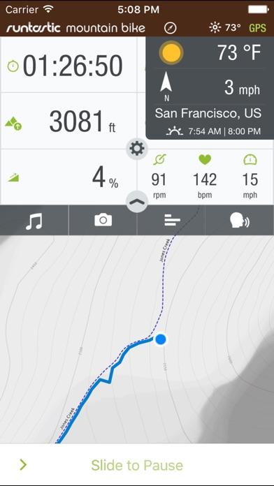Runtastic Mountain Bike PRO Screenshots