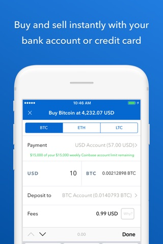 Coinbase - Buy Bitcoin & more screenshot 2