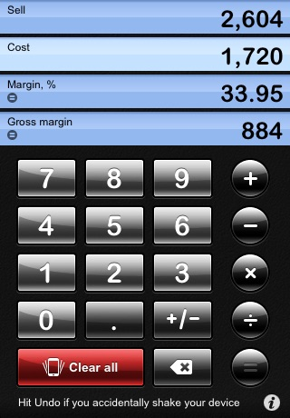 iMargin - Margin Calculator screenshot 1