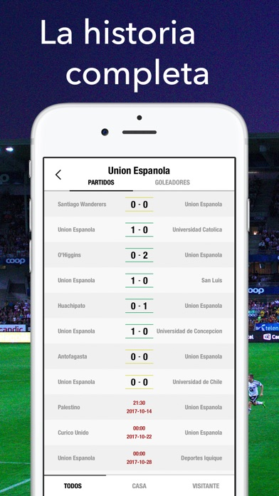 Screenshot for Primera Chile Fútbol Partidos in Chile App Store