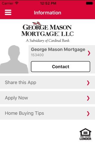 George Mason Mortgage Mobile screenshot 1