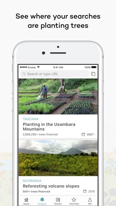 Screenshot 2 for Ecosia's iPhone app'