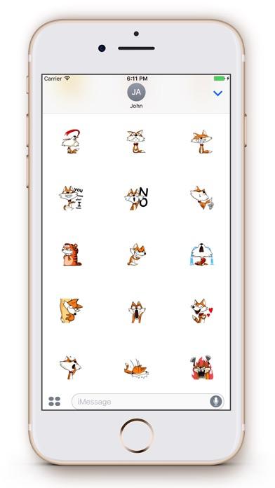 Screenshot of Fox Emoji Stickers1