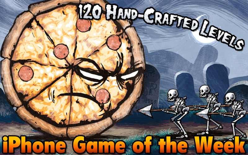 Screenshot #1 for Pizza Vs. Skeletons