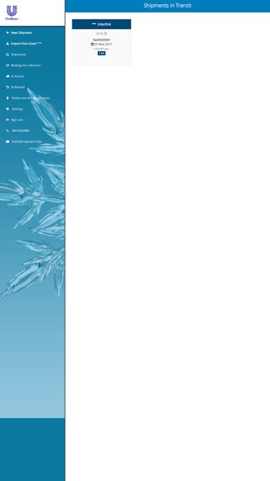 Unilever Transport Online screenshot 1