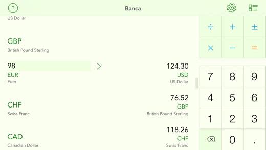 Banca currency converter Screenshots
