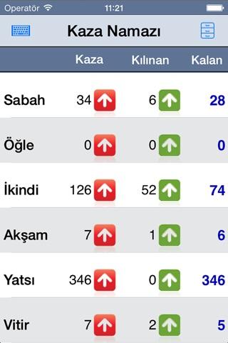 Kaza Namazı Takip screenshot 1