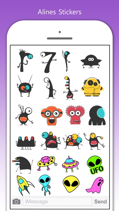 Aliens Stickers! screenshot 1