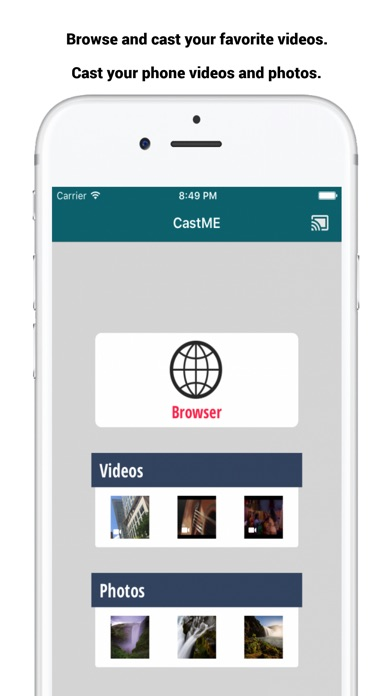 castME TV for Chromecast screenshot 1