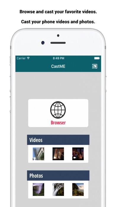 castME TV for Chromecast screenshot 1