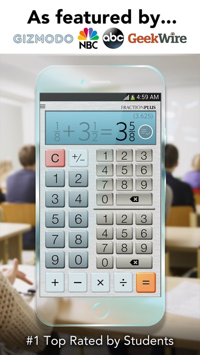 Fraction calculator plus get it right every time on the app store iphone screenshot 1 ccuart Gallery