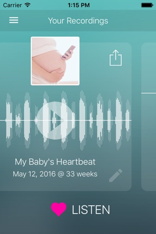 Hear My Baby Heartbeat Monitor screenshot 4