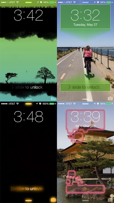 Slick - Lock Screen by Customizing your Wallpapers Screenshot