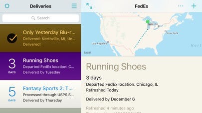 Deliveries: a package tracker screenshot four